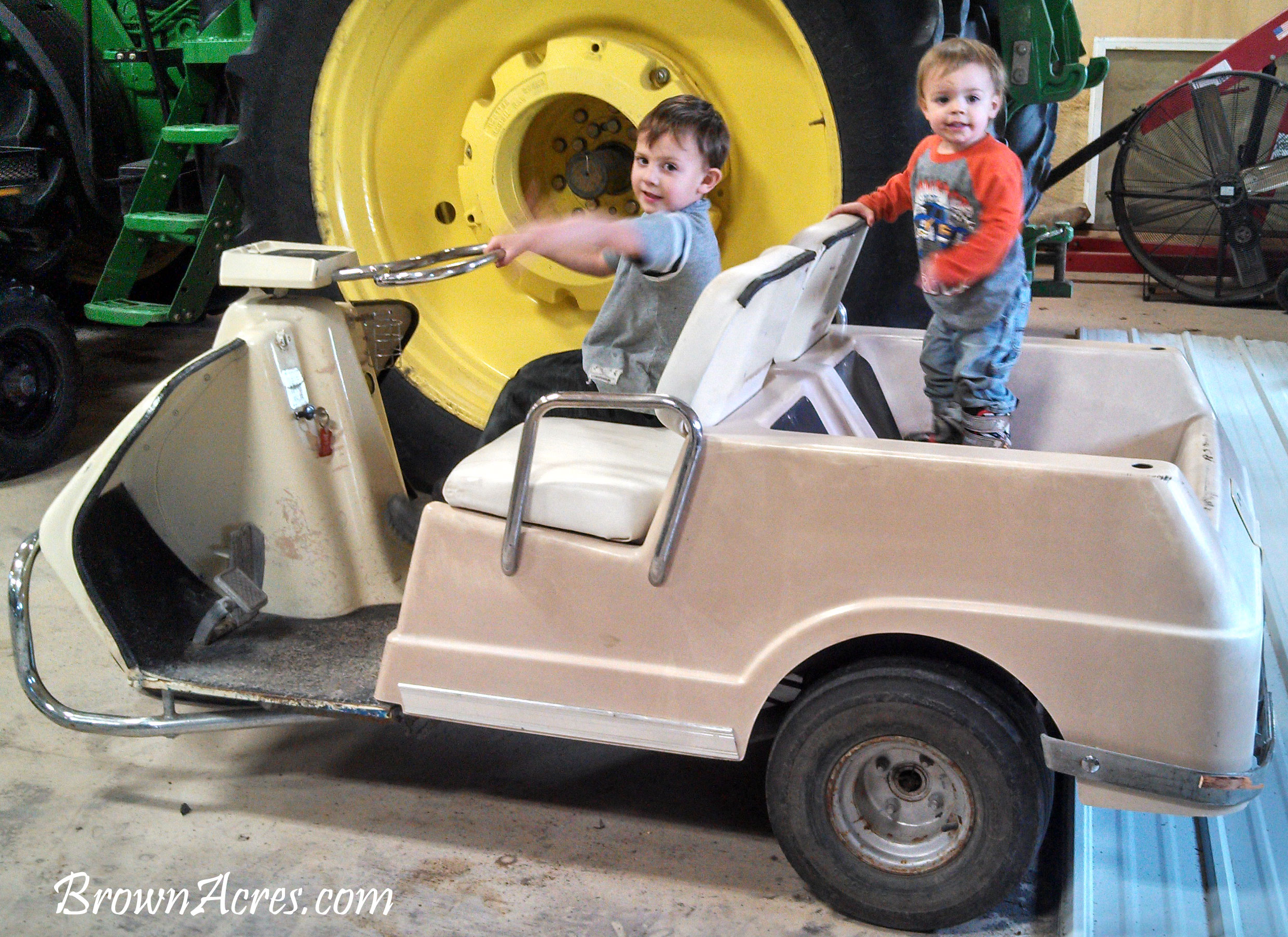 Wordless Wednesday Kids in the Shop