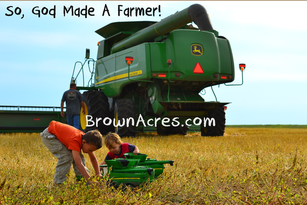 Brown-Acres-Harvesting-So-God-Made-A-Farmer-Kids-Combines