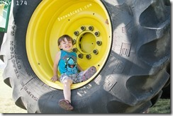 Hanging out in the tire