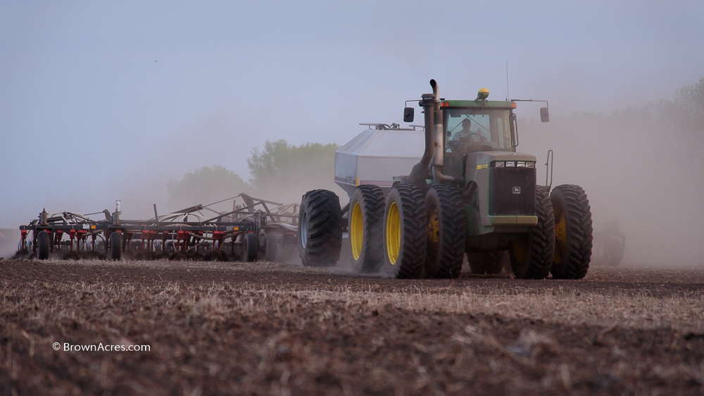 John Deere 9200 Borgault drill planting soybeans North Dakota